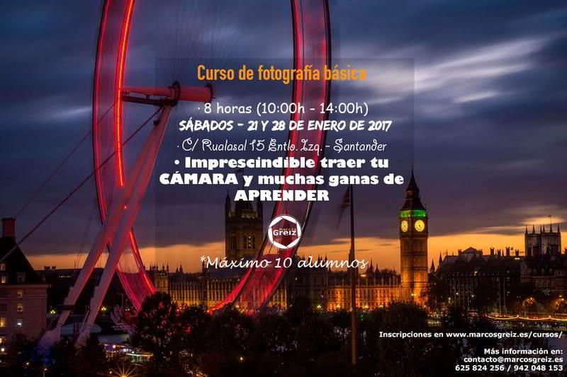 Curso de fotografía básica en Santander