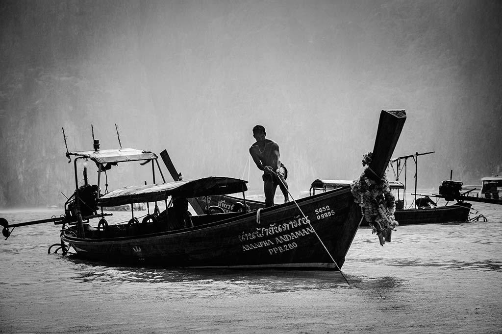 fotografía de viaje Tailandia barquero