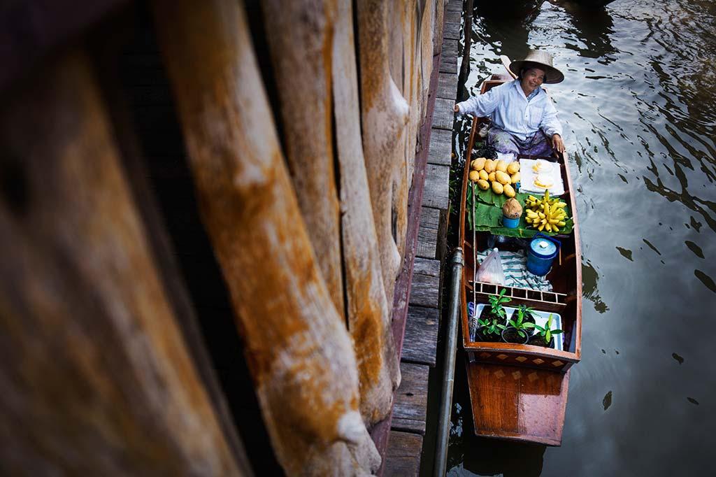 fotografía de viaje Tailandia mercado flotante