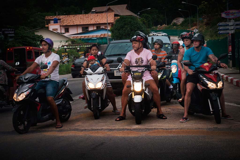 fotografía de viaje Tailandia motos
