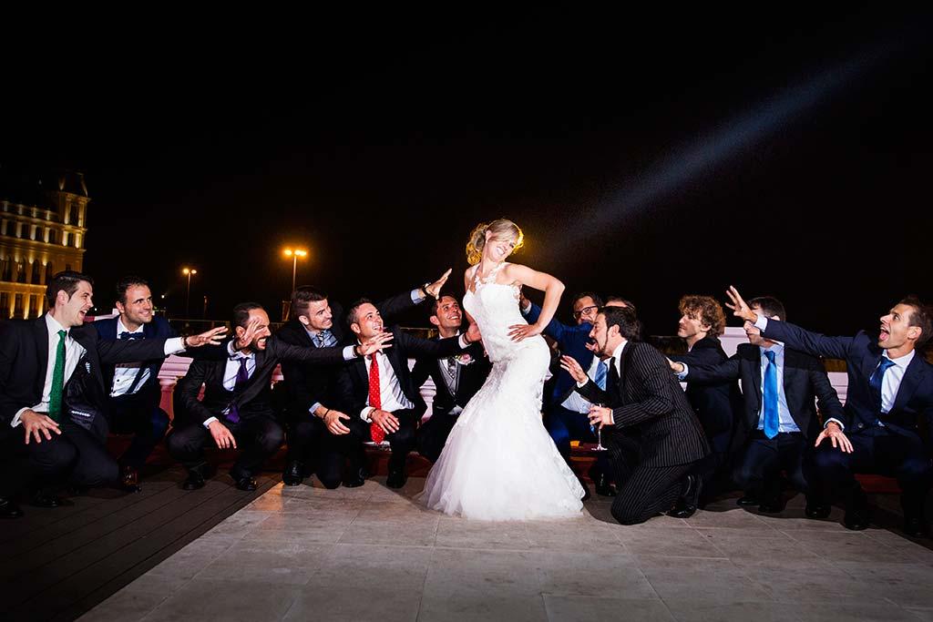 Fotos de bodas Santander Diana y Javier amigos