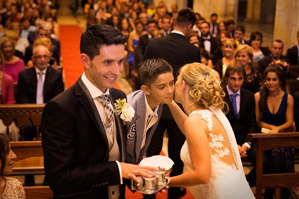 Fotos de bodas Santander Diana y Javier beso