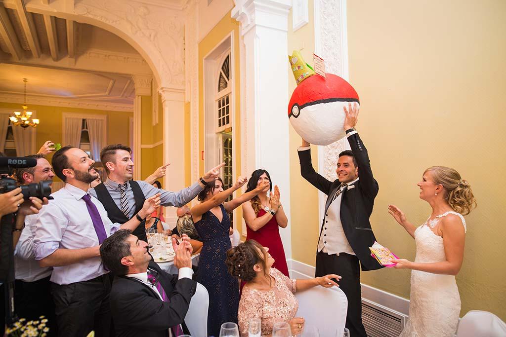 Fotos de bodas Santander Diana y Javier pokeball