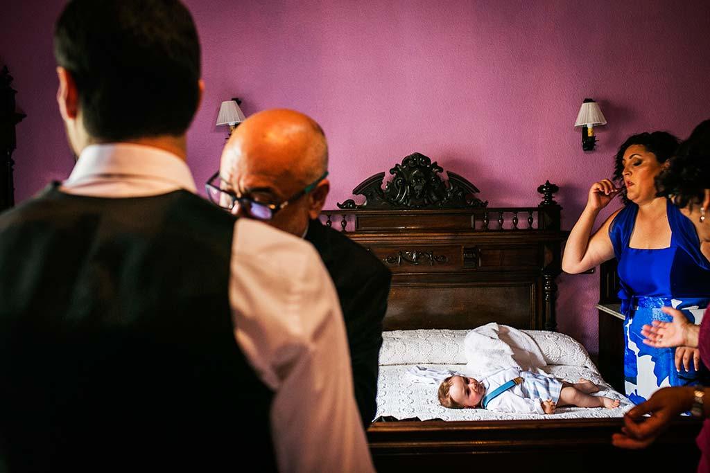 fotografo de bodas Cantabria Isa y Asier bebe