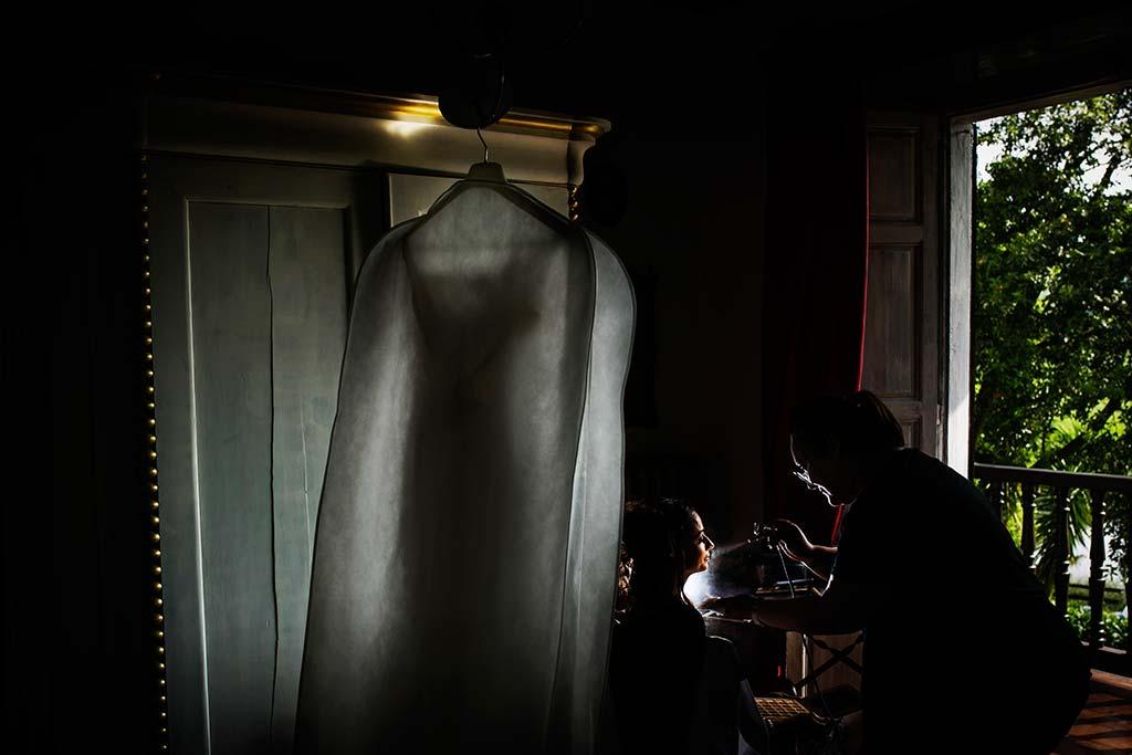 fotografo de bodas Cantabria Isa y Asier make up