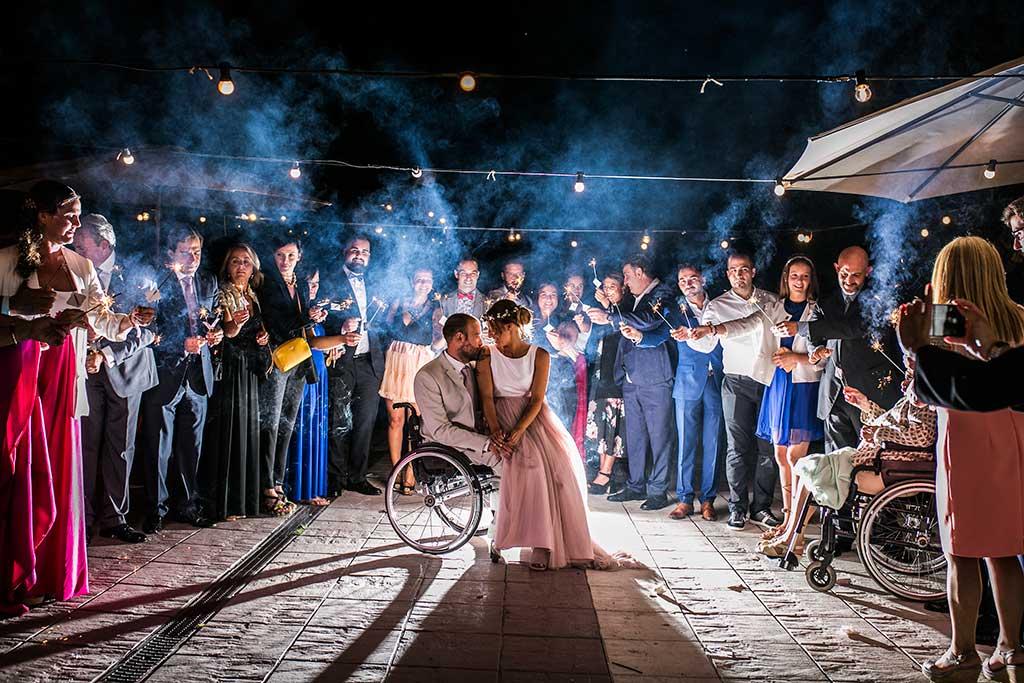fotógrafo de bodas Cantabria bengalas