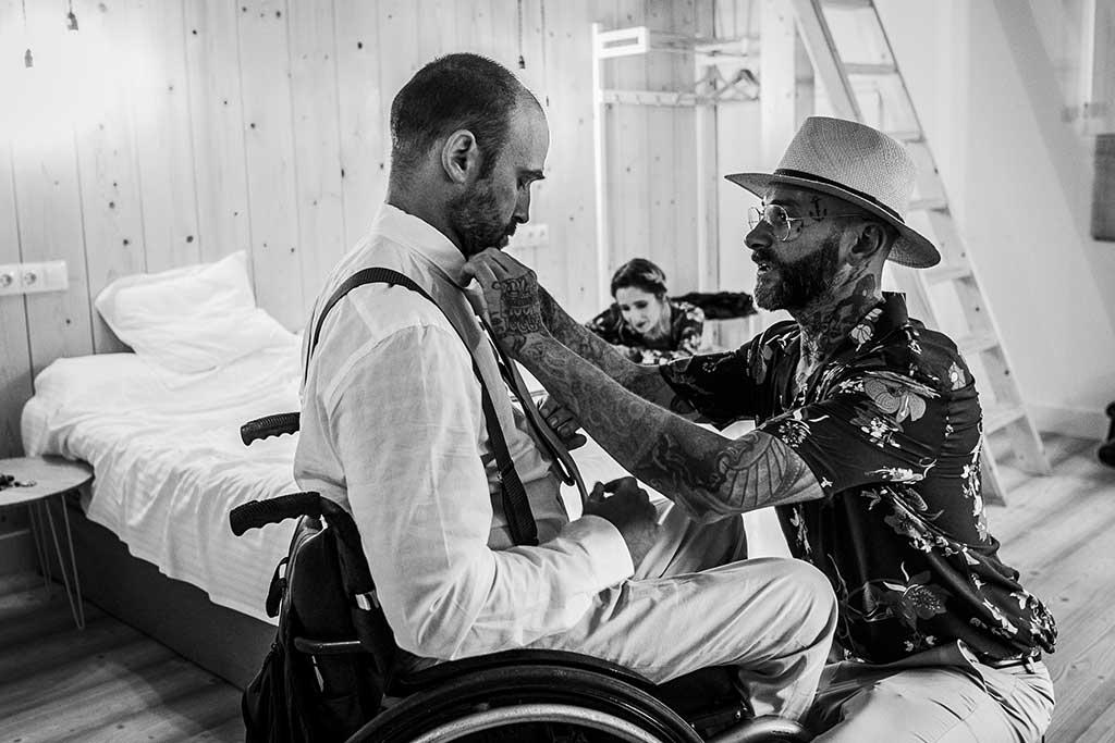 fotógrafo de bodas Cantabria corbata