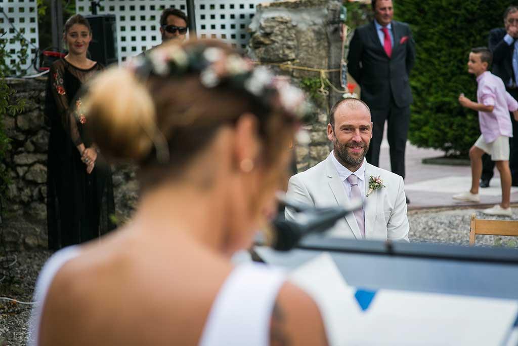 fotógrafo de bodas Cantabria novia a novio