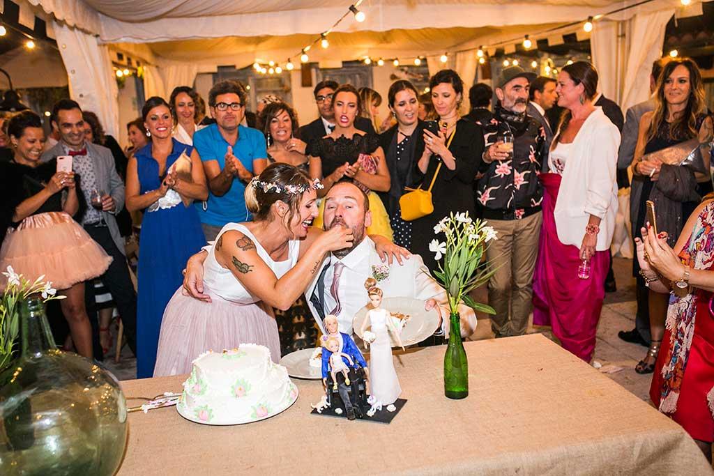 fotógrafo de bodas Cantabria tarta