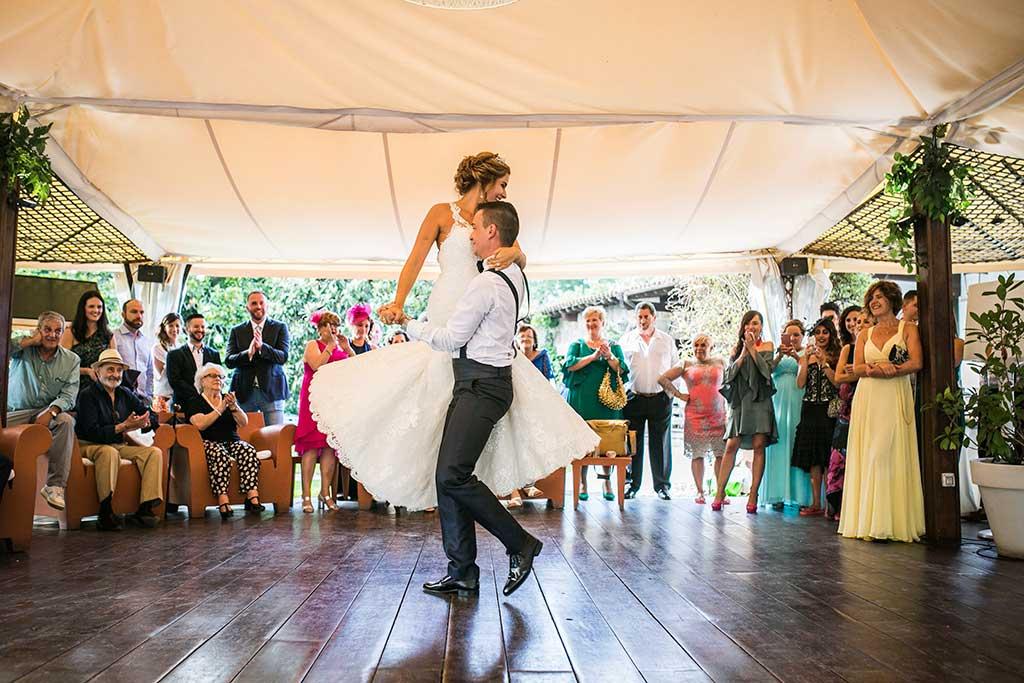 fotografo bodas Cantabria Andrea y Samuel baile nupcial