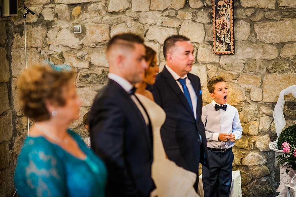 fotógrafo de bodas Santander Sandra y Fran bostezo