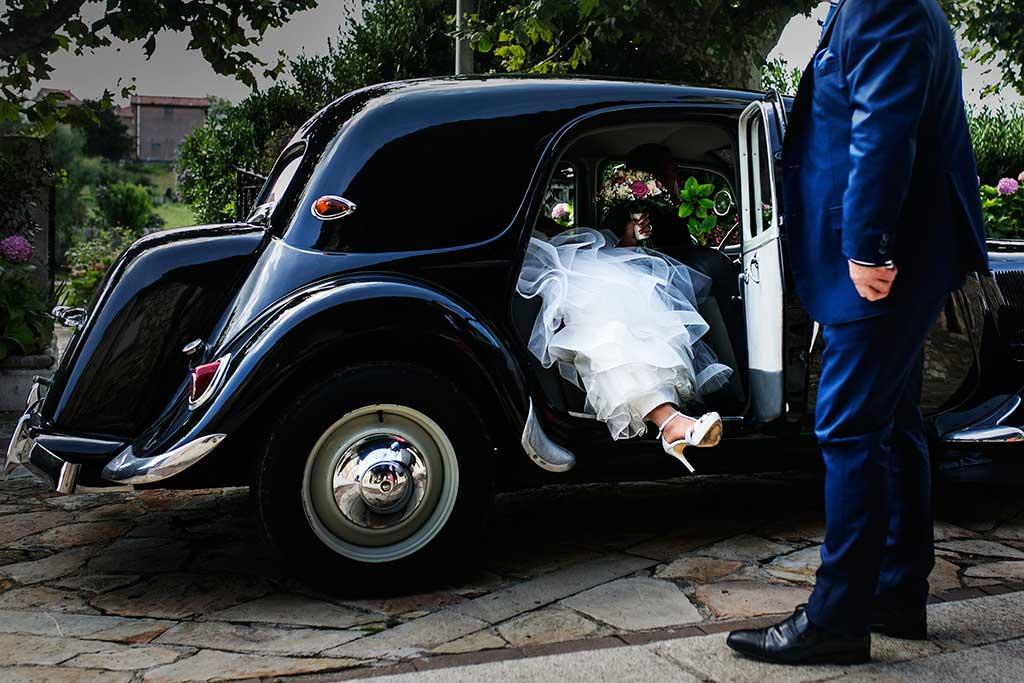 fotógrafo de bodas Santander Sandra y Fran coche