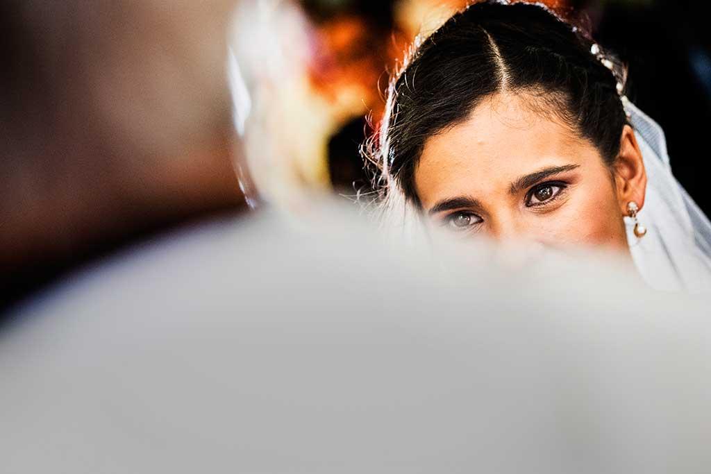 fotógrafo de bodas Cantabria Sara y Luis ojos novia