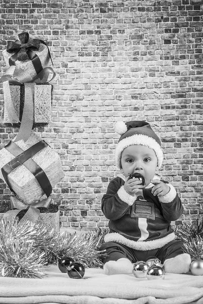 fotos de bebes navidad Marcos Greiz Enzo blanco y negro