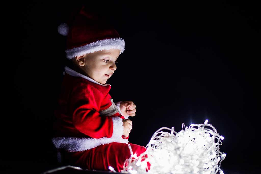 fotos de bebes navidad Marcos Greiz Enzo luces