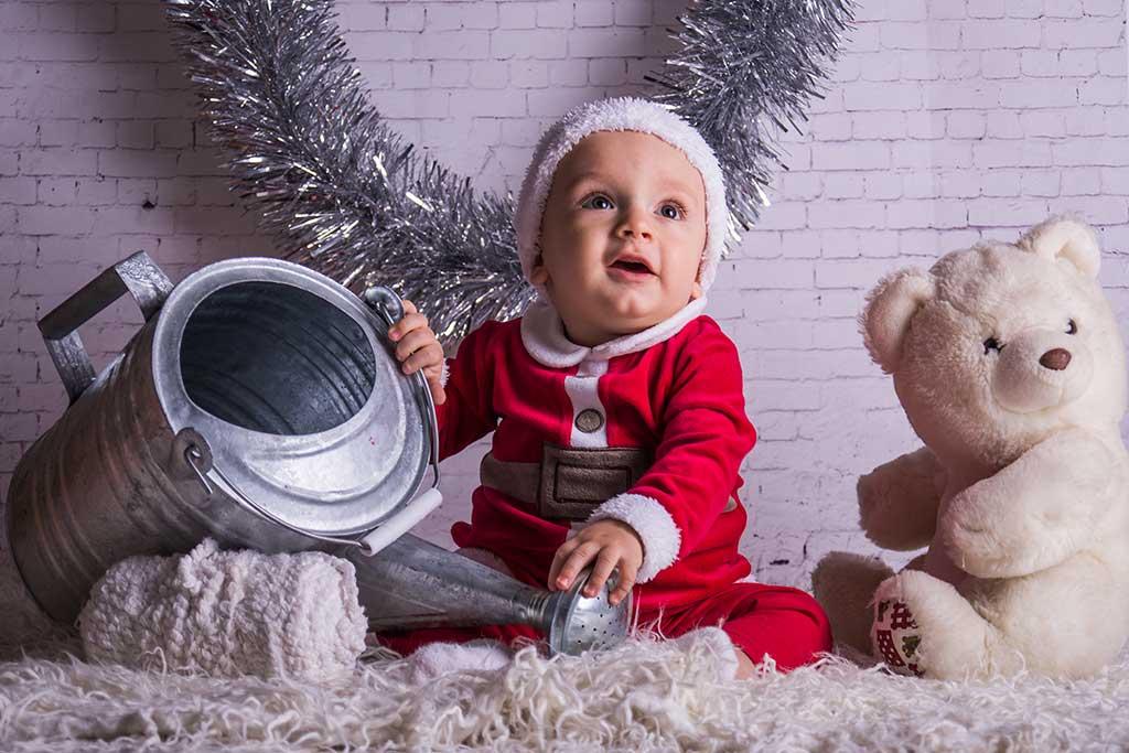 fotos de bebes navidad Marcos Greiz Enzo osito