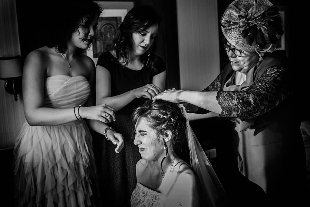 fotografo de bodas en Cantabria Maria y Borja velos