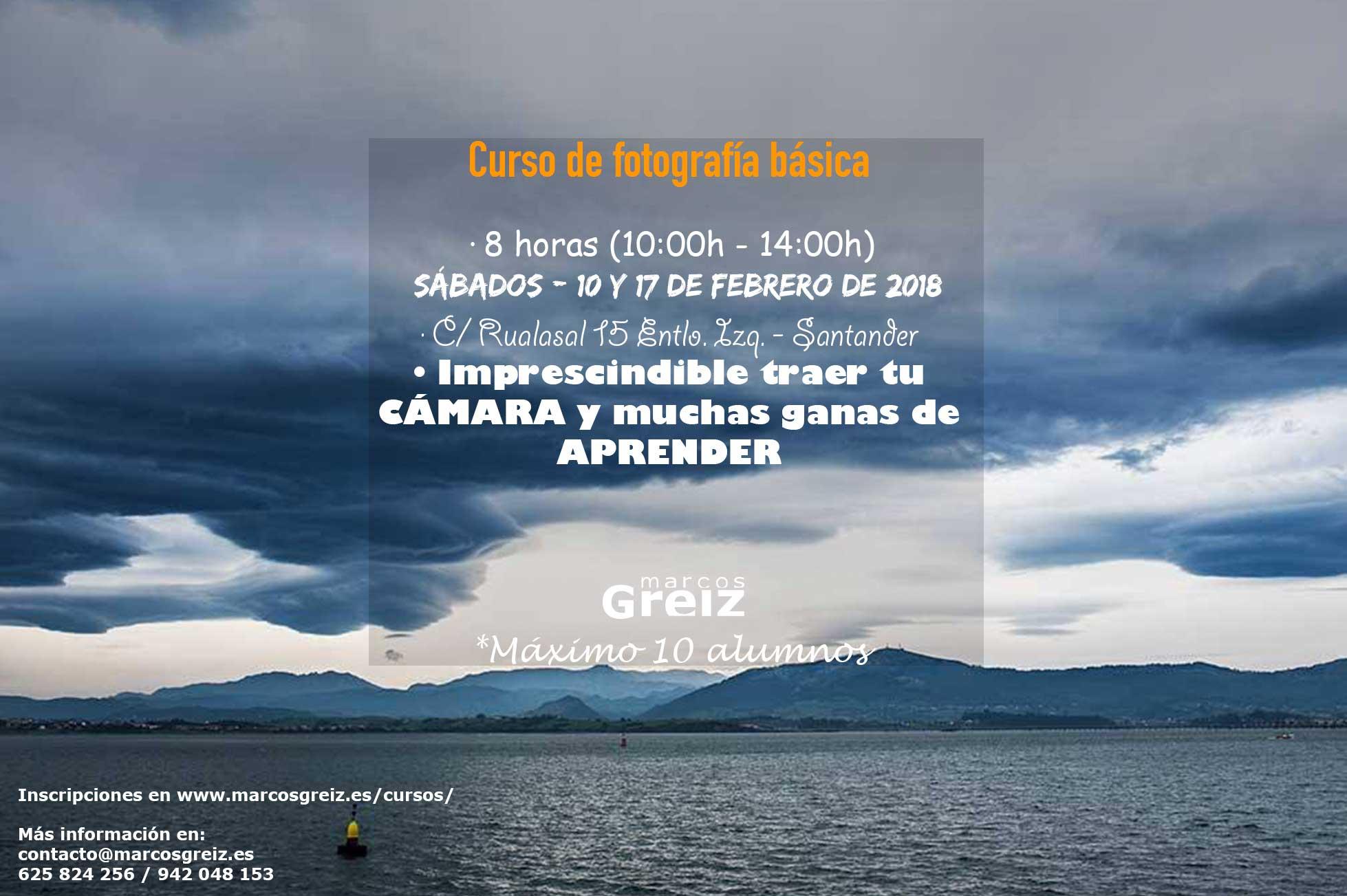 Curso fotografía Santander