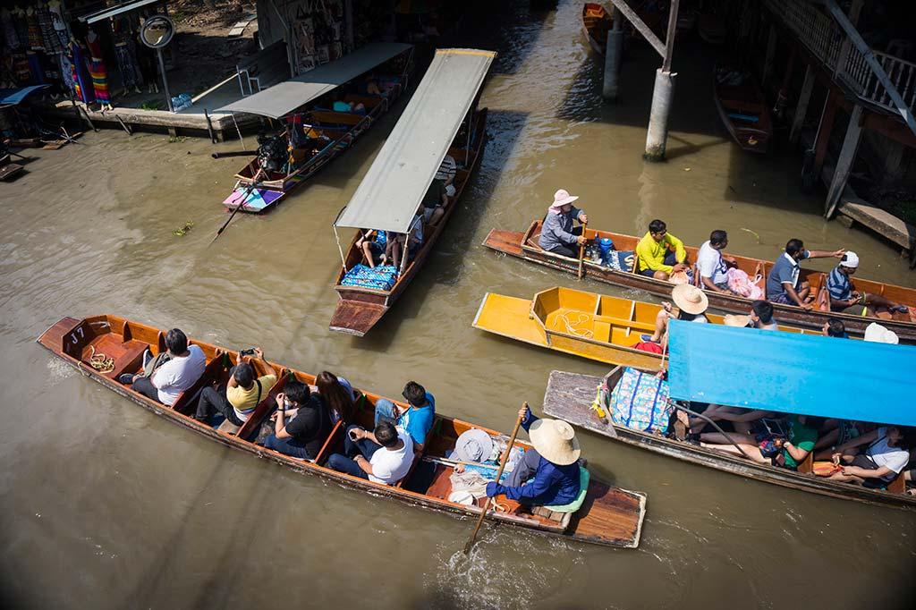 fotografía de viaje Tailandia mercado flotante bangkok