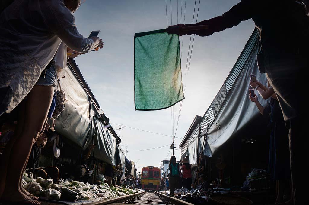 fotografía de viaje Tailandia mercado del tren