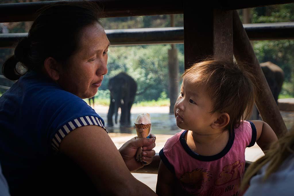 fotografía de viaje Tailandia mama helado