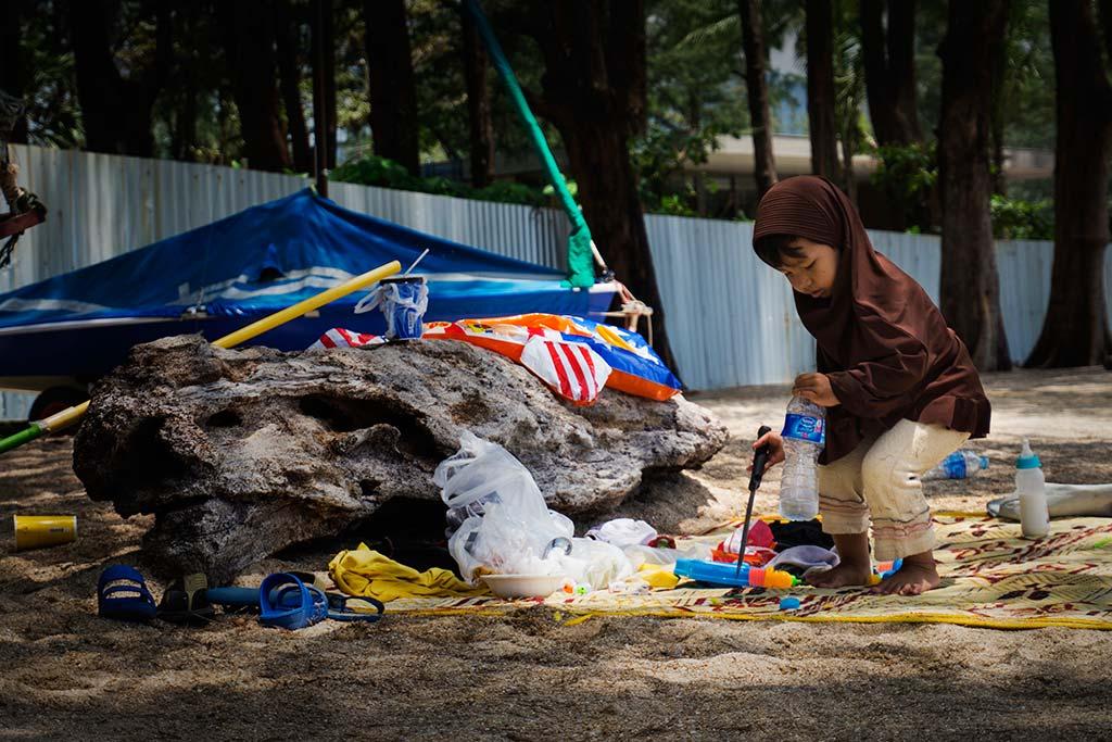 fotografía de viaje Tailandia nene playa