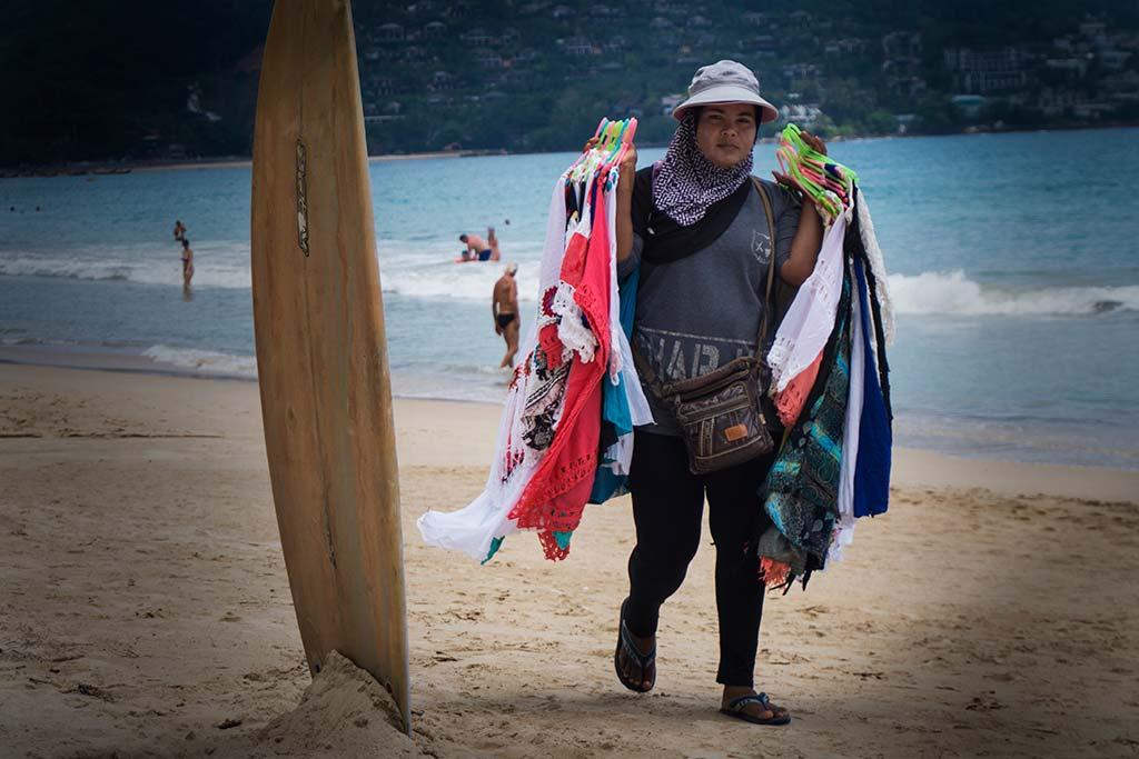 fotografía de viaje Tailandia vender playa