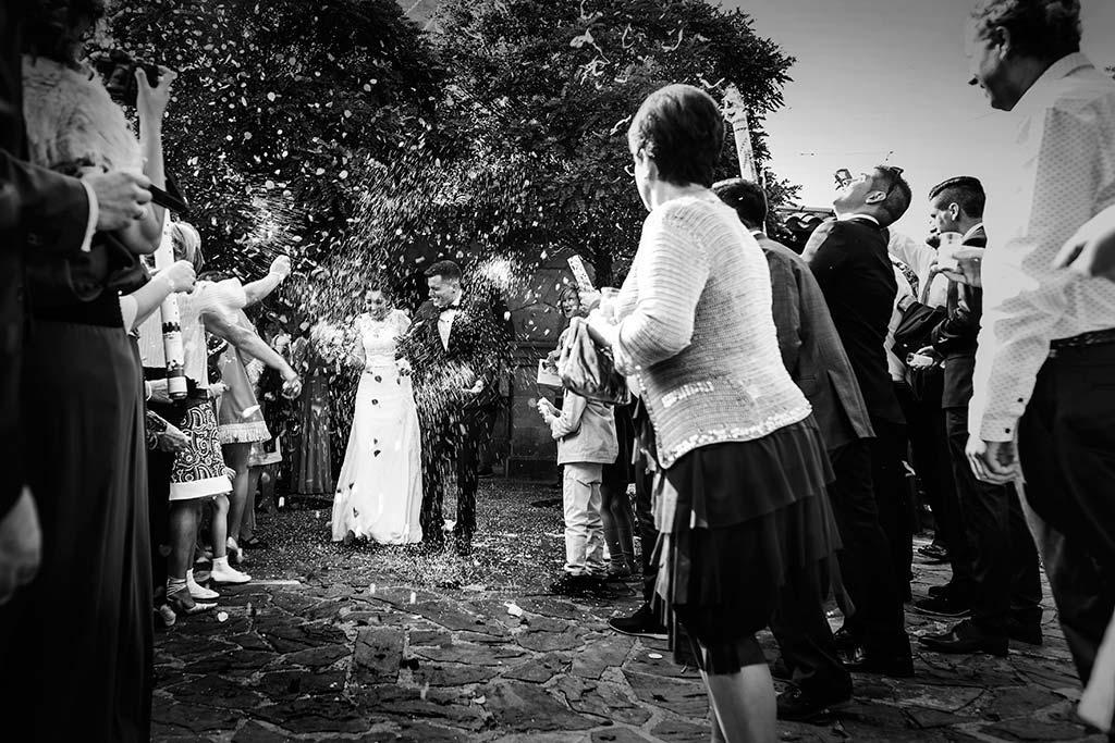 fotos de boda solares salida novios