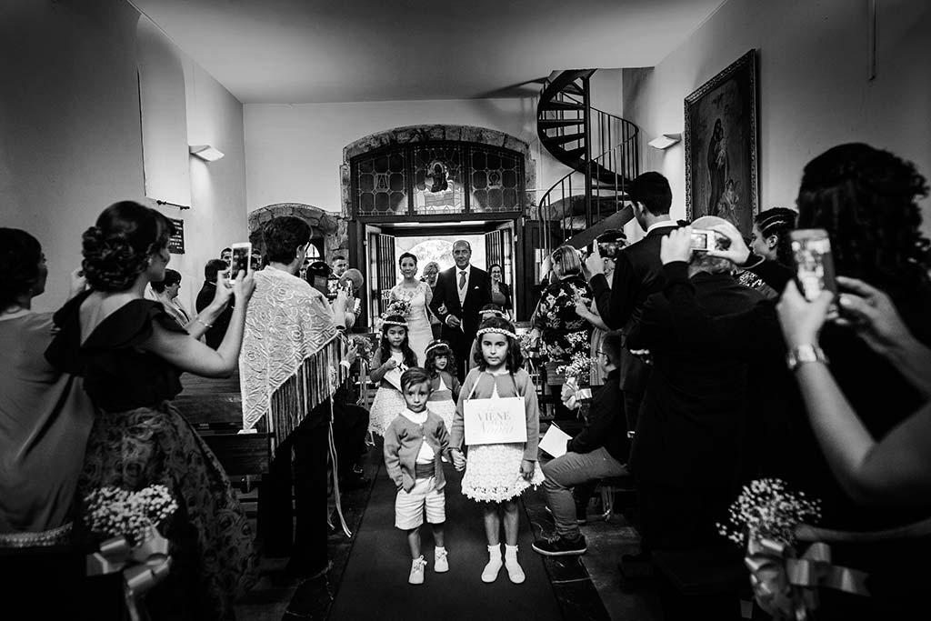 fotos de boda solares entrada novia