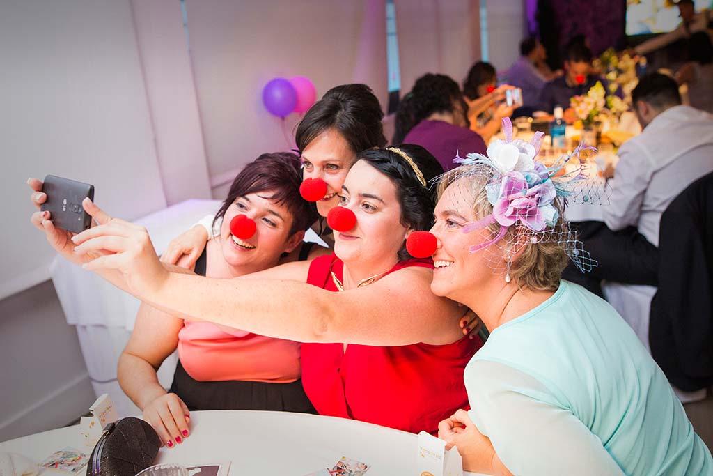 fotos de boda solares narices de payaso