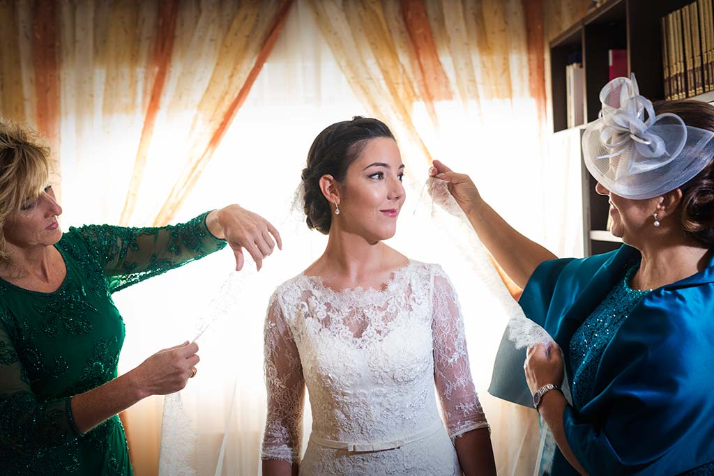 fotos de boda solares velo novia