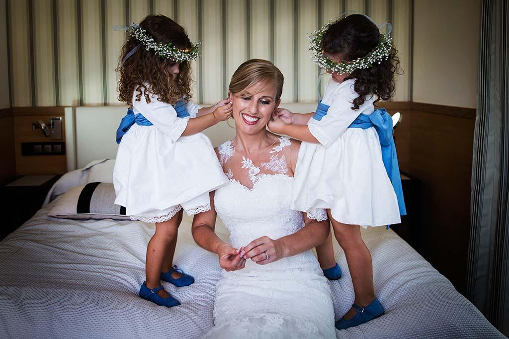Fotos de bodas Santander Diana y Javier nenas