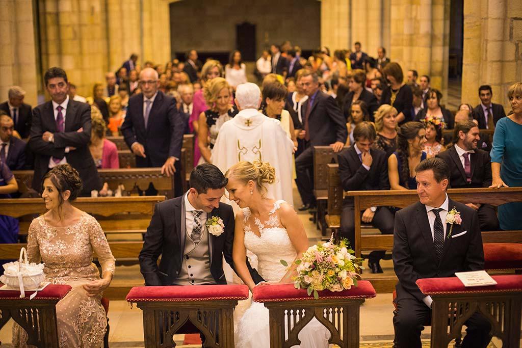 Fotos de bodas Santander Diana y Javier iglesia