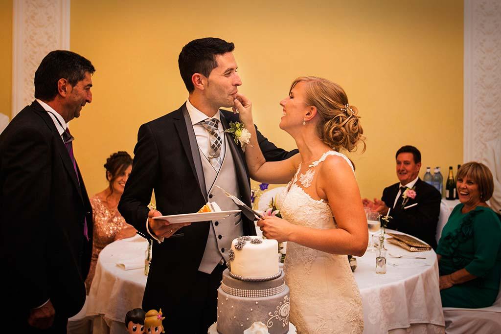 Fotos de bodas Santander Diana y Javier tarta