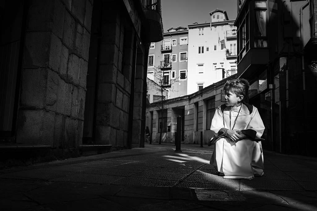 fotos comunión en Santander Marcos Greiz Mario blanco negro