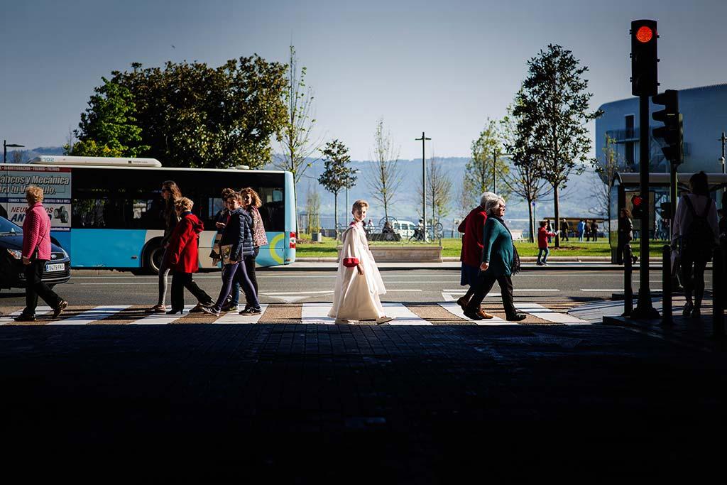 fotos comunión en Santander Marcos Greiz Mario paso de cebra
