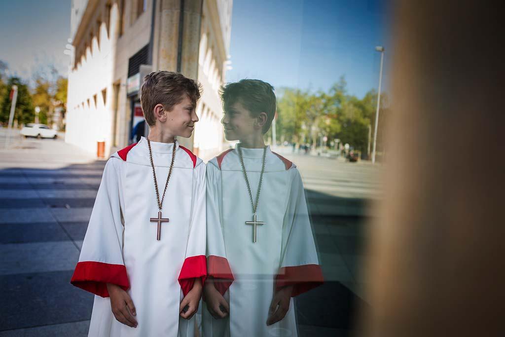 fotos comunión en Santander Marcos Greiz Mario reflejo