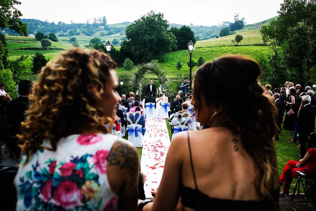 fotografo de bodas Cantabria Isa y Asier ceremonia