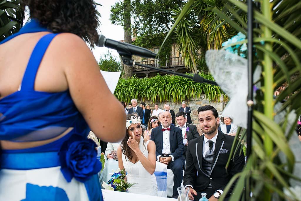 fotografo de bodas Cantabria Isa y Asier lloros