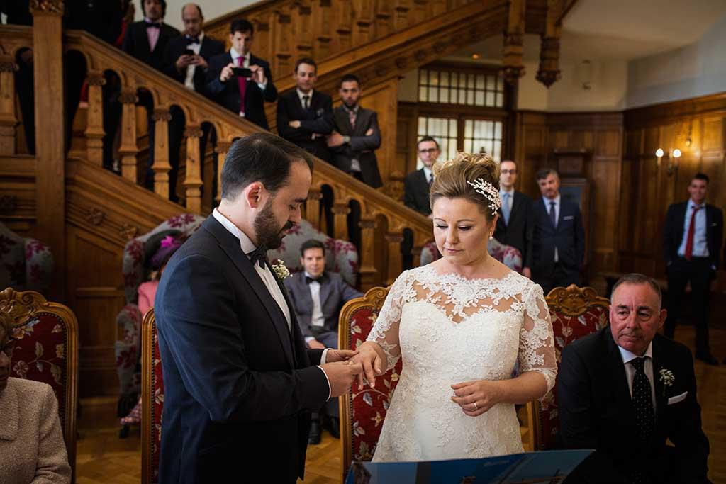 fotografo de bodas Santander Maria y Angel anillos
