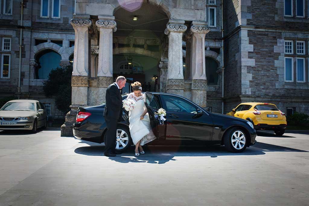 fotografo de bodas santander maria angel llegada