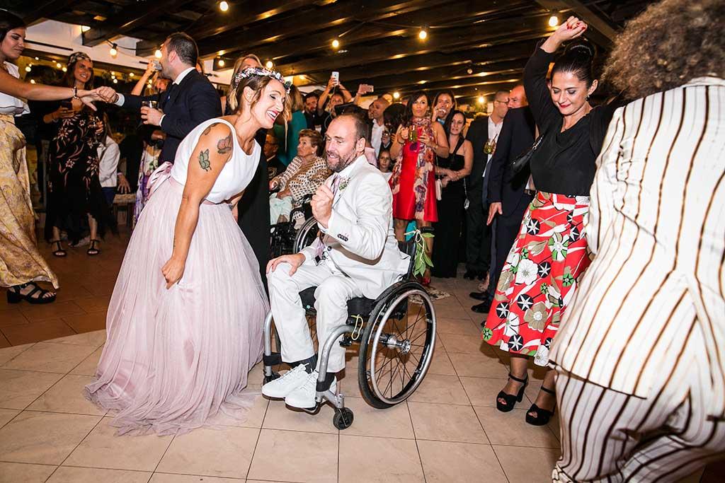 fotógrafo de bodas Cantabria novios baile fiesta