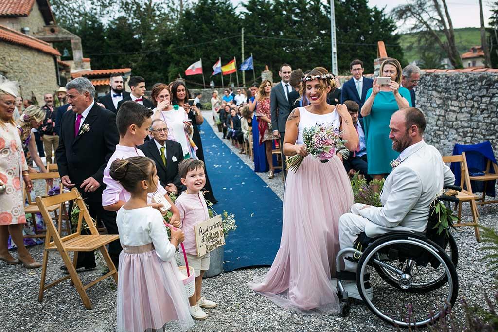 fotógrafo de bodas Cantabria nenes arras
