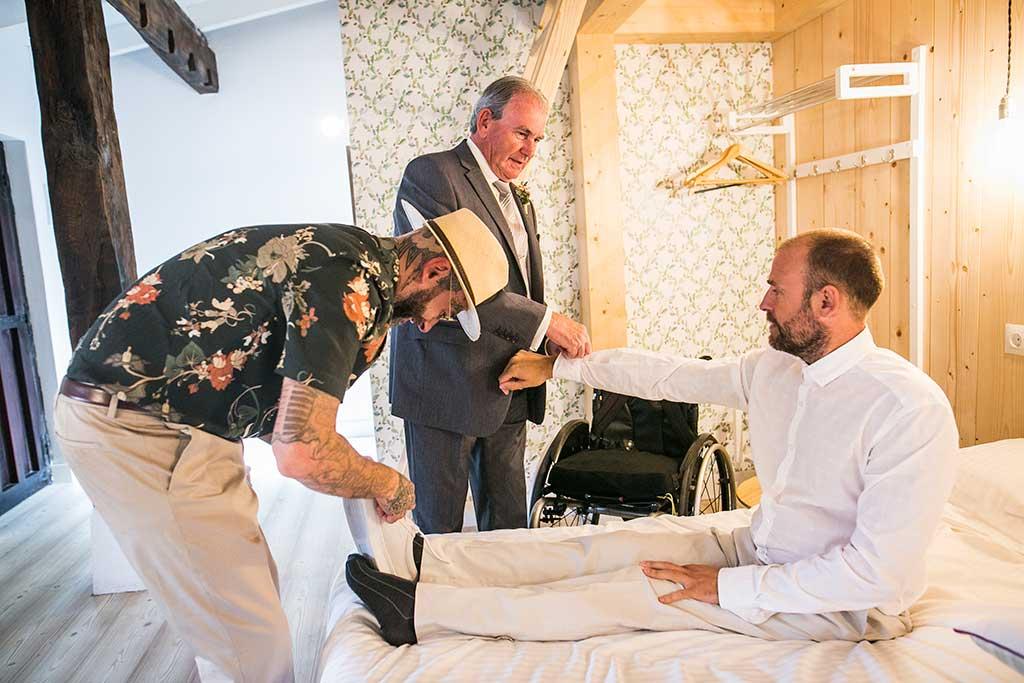 fotógrafo de bodas Cantabria vestir