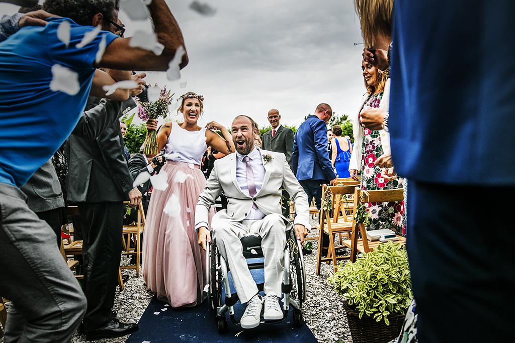 fotógrafo de bodas Cantabria salida novios
