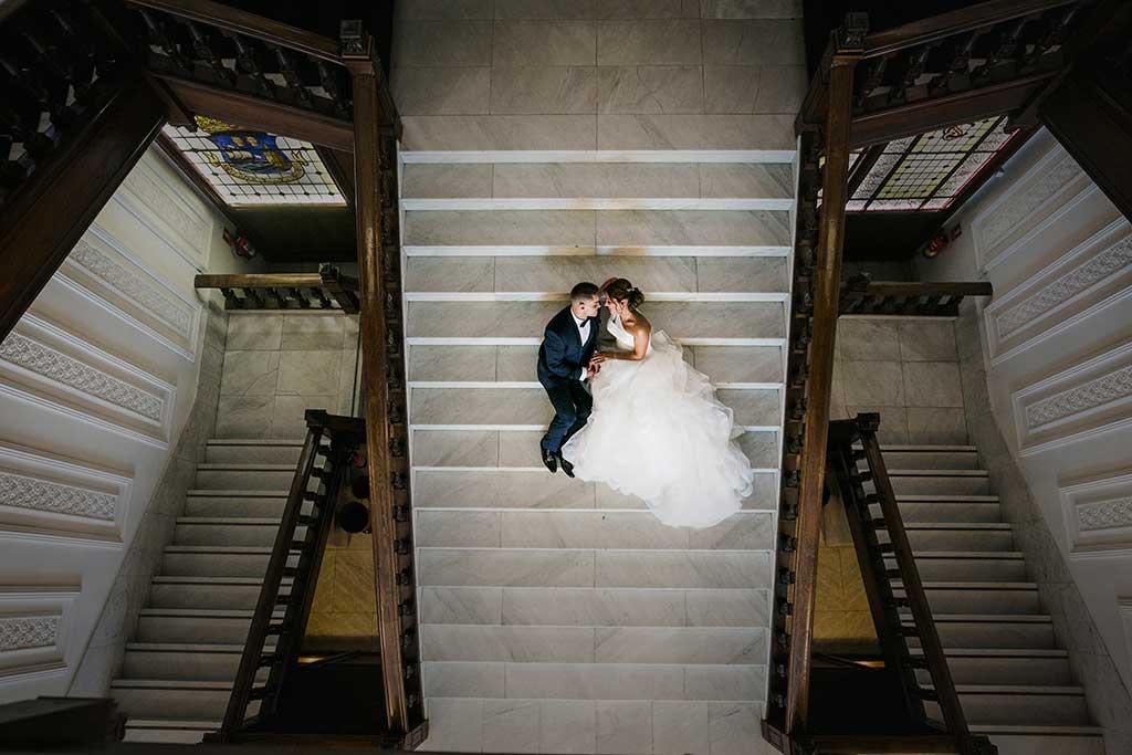 fotógrafo de bodas Santander Sandra y Fran escaleras