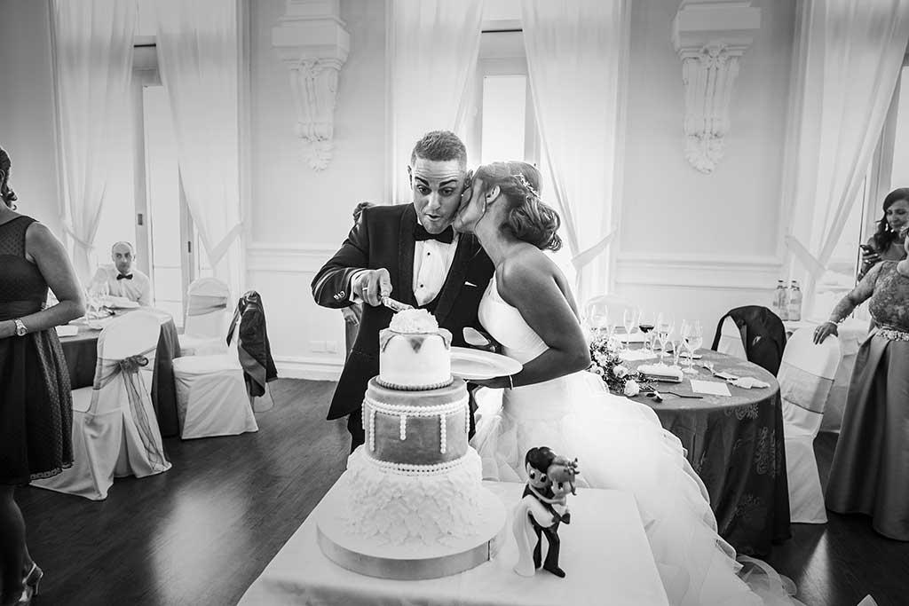 fotógrafo de bodas Santander Sandra y Fran tarta