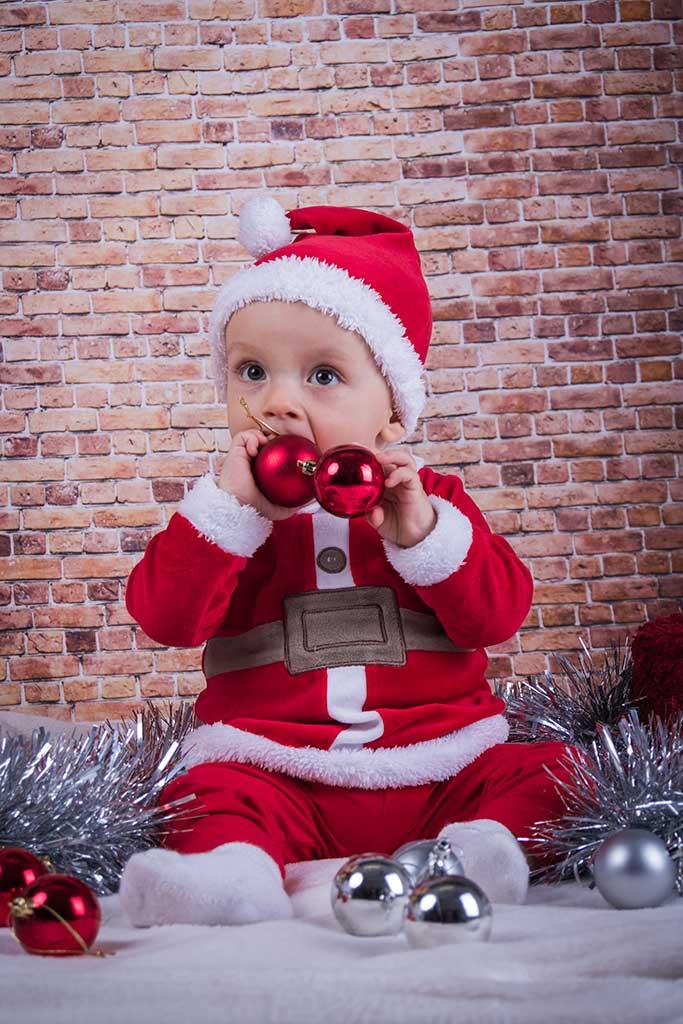 fotos de bebes navidad Marcos Greiz Enzo bolas