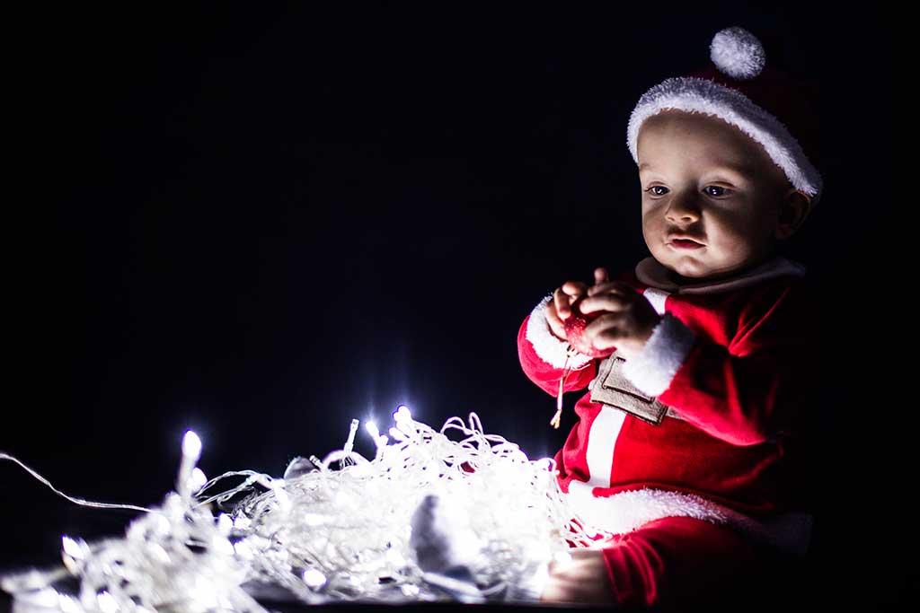 fotos de bebes navidad Marcos Greiz Enzo lucecitas