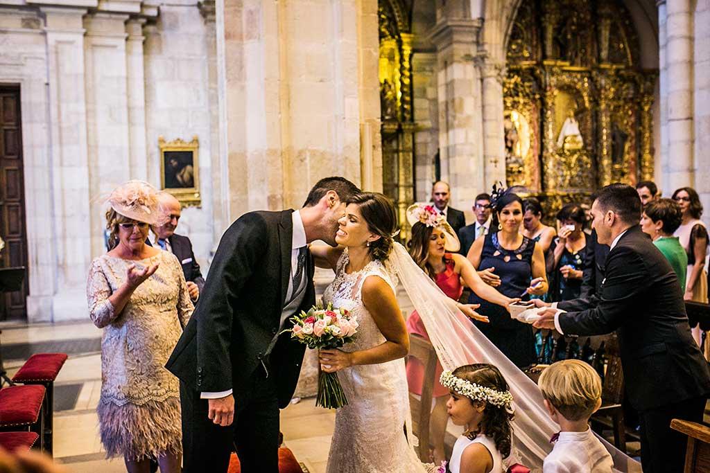 fotografo de bodas Santander Mario Carla beso